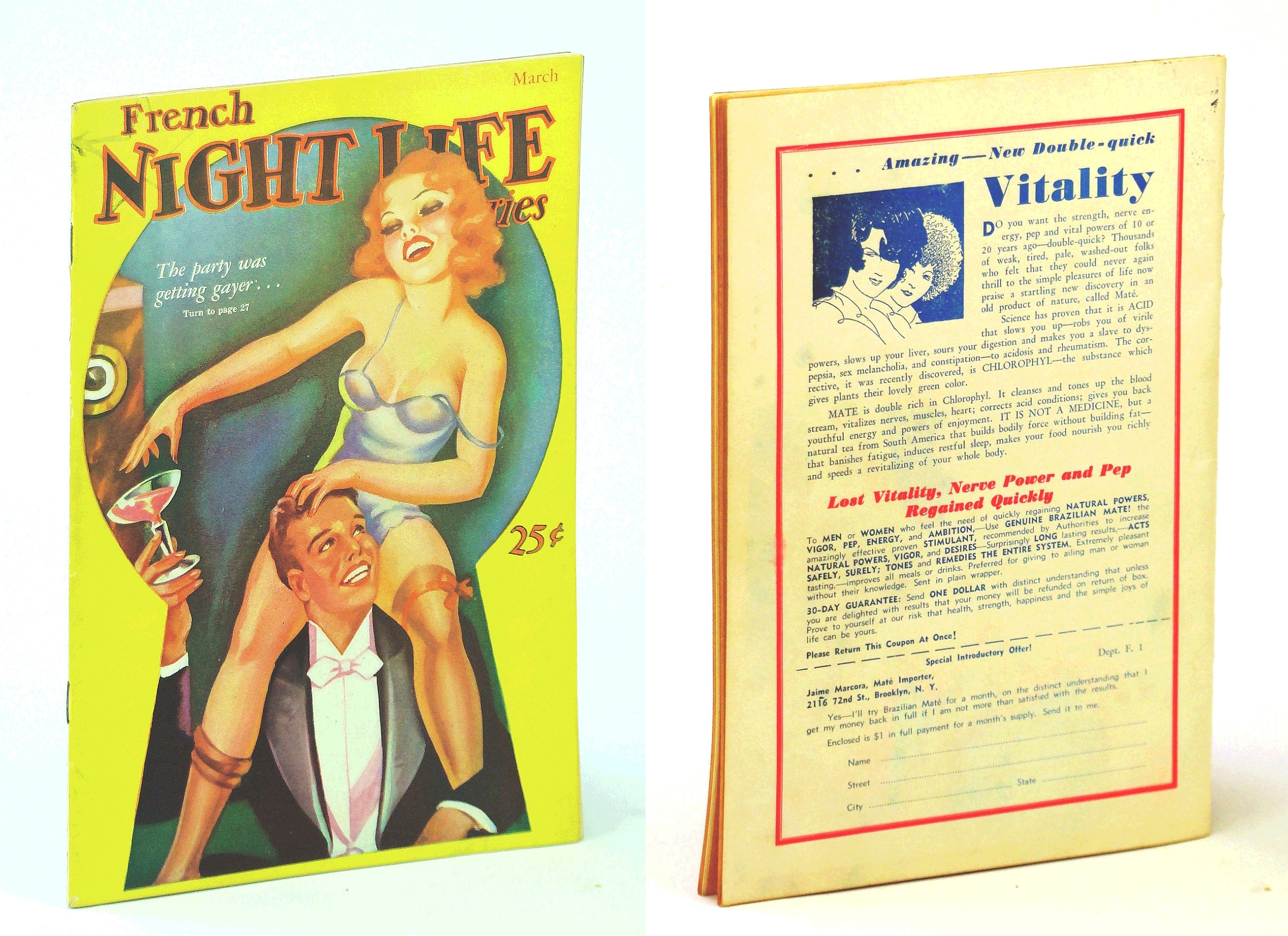 Image for French Night Life [Magazine], March [Mar.] 1936