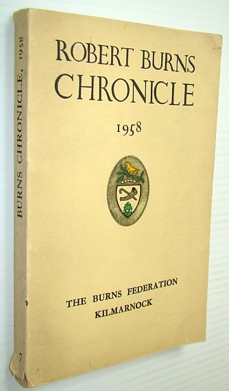 Image for Robert Burns Chronicle And Club Directory 1958 - Third Series, Volume VII