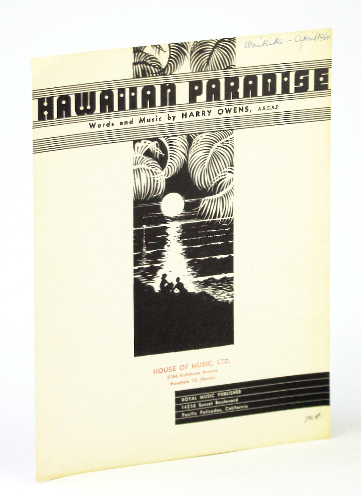 Image for Hawaiian Paradise: Piano Sheet Music with Lyrics and Ukulele Chords