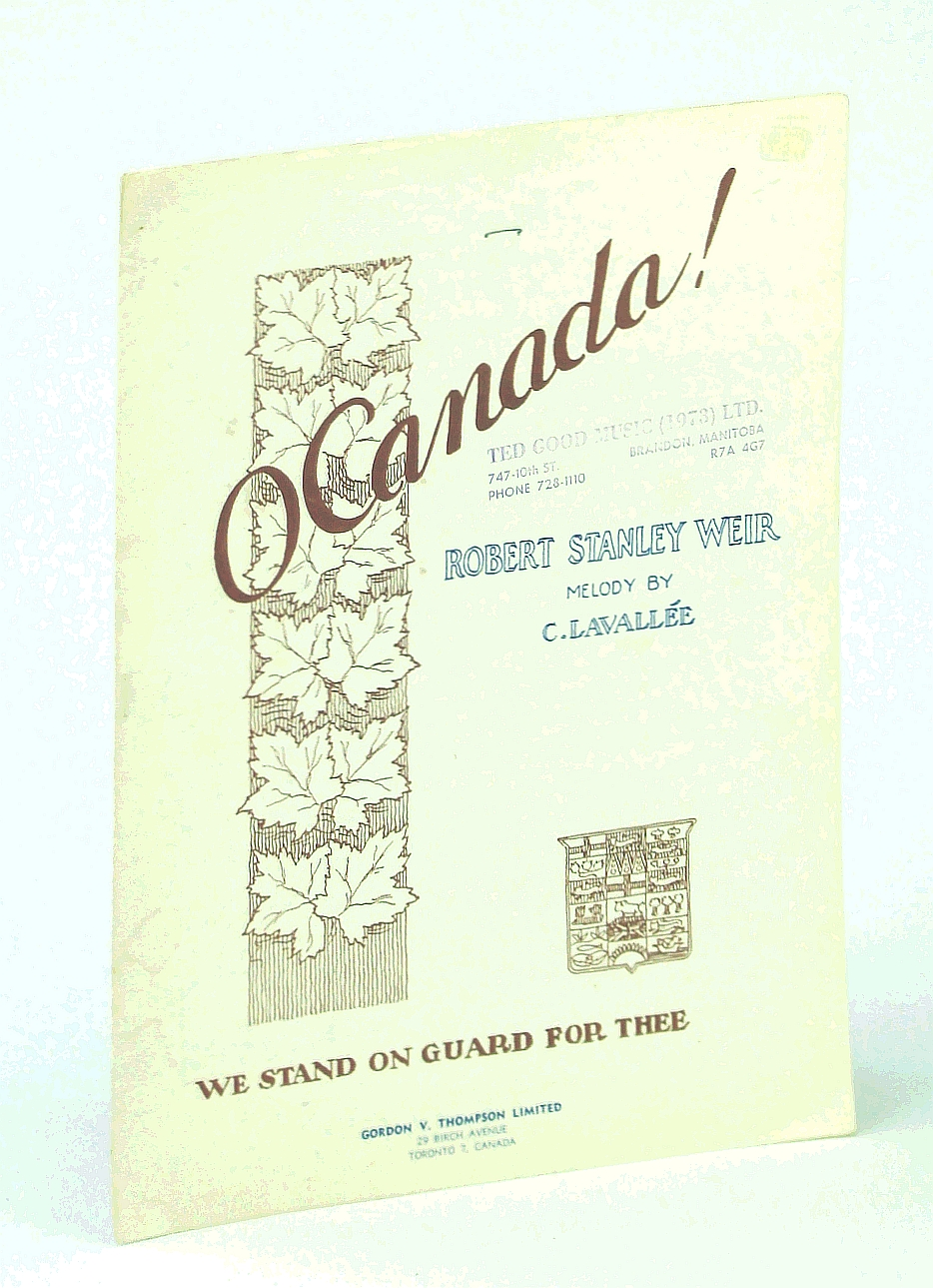 Image for O [Oh] Canada!: Piano Sheet Music with Lyrics
