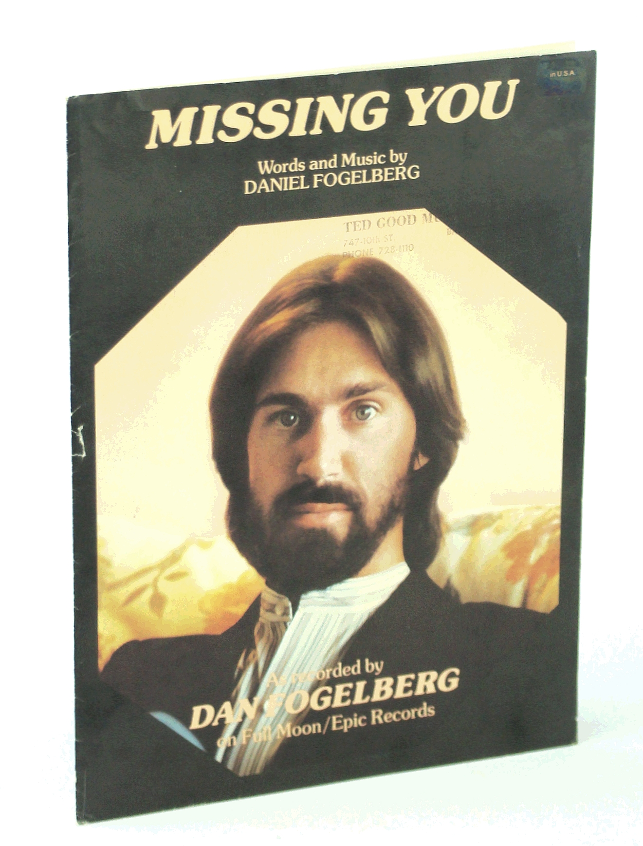 Image for Missing You (Fogelberg, Dan) (1982) - Piano/Vocal Sheet Music