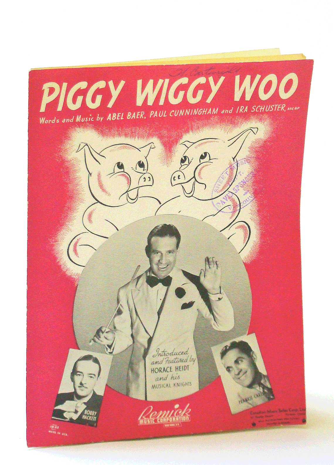 "Image for 3108 "" PIGGY WIGGY WOO "" WORDS AND MUSIC BY ABEL BAER, PAUL CUNNINGHAM AND IRA SCHUSTER 1939"