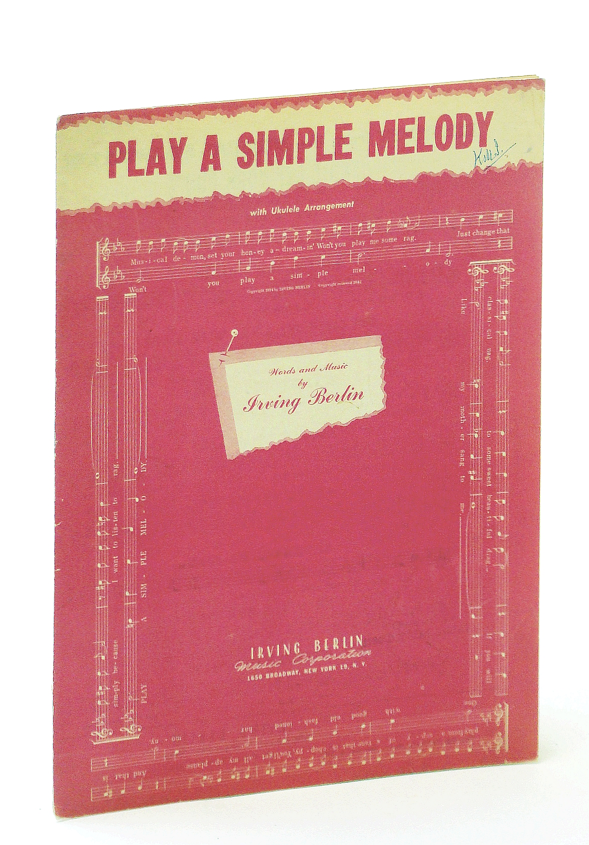 Image for Sheet Music Play A Simple Melody Irving Berlin 9