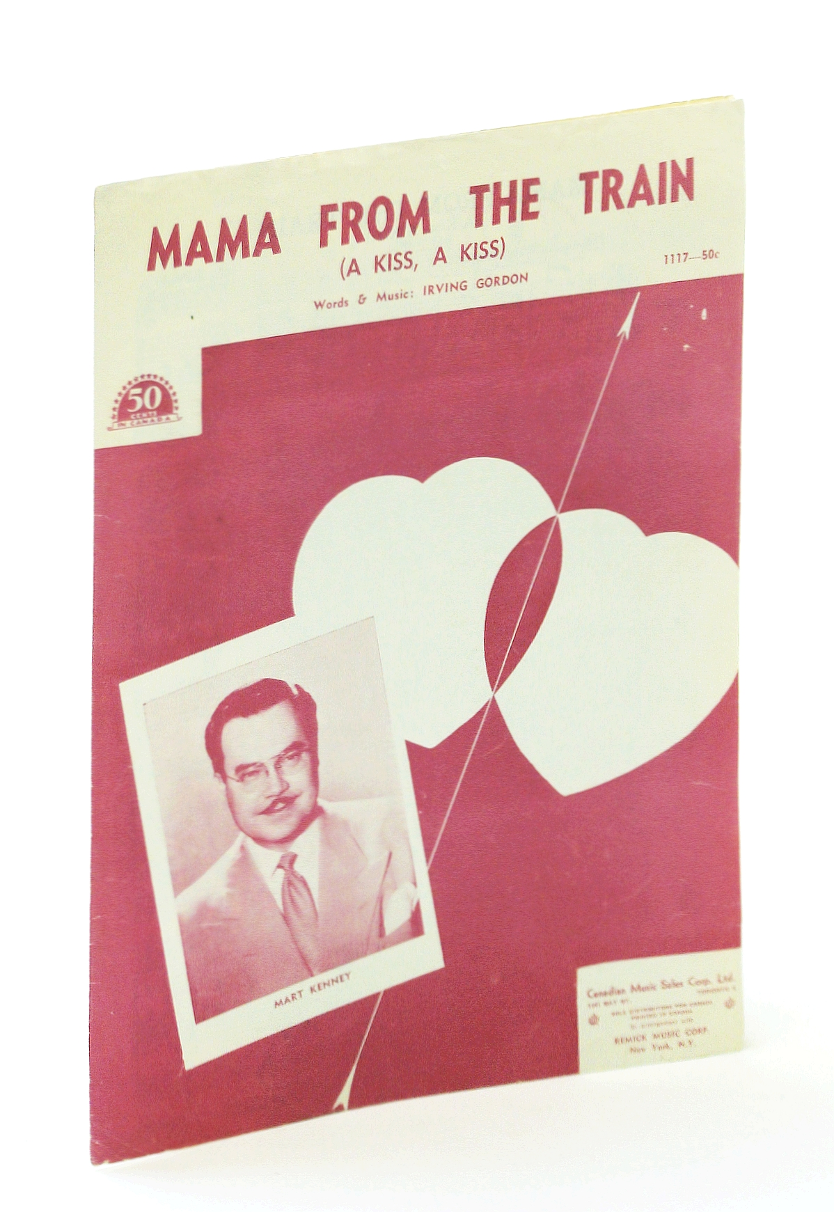 Image for Mama From the Train (A Kiss, A Kiss): Sheet Music for Voice and Piano with Ukulele Chords