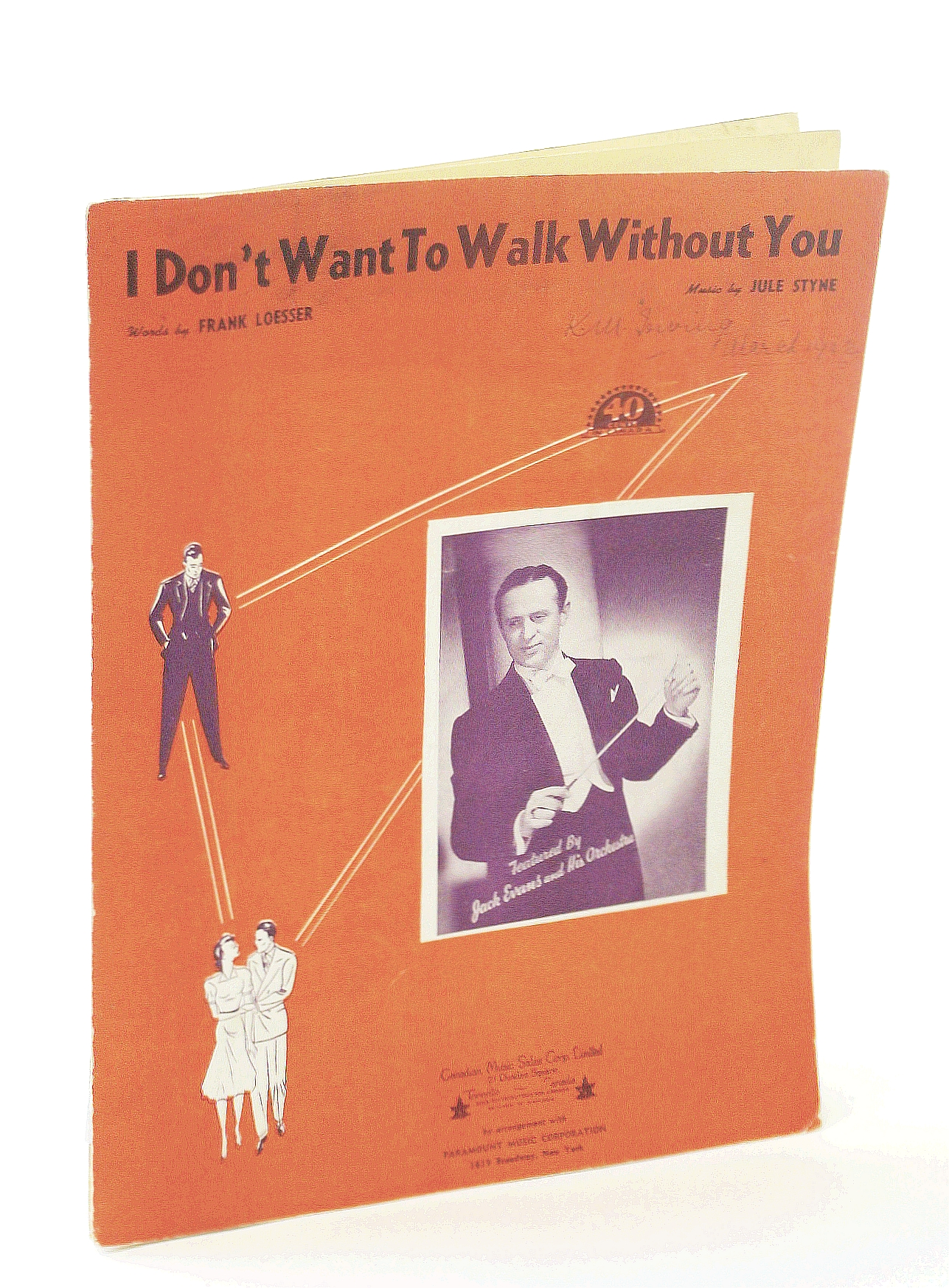 "Image for I Don't Want to Walk Without You...from the Paramount Picture ""Sweater Girl"" (SHEET MUSIC)"