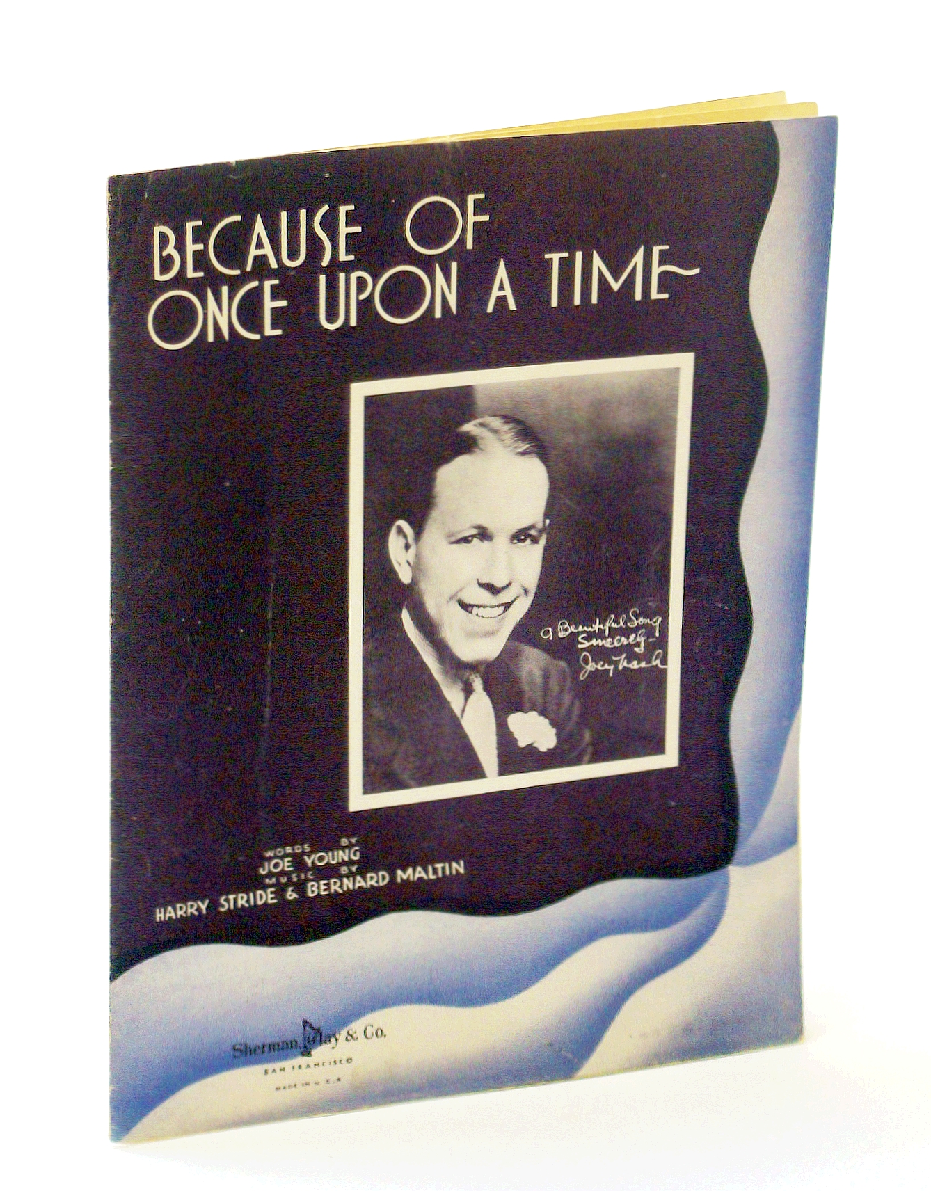 Image for Because of Once Upon a Time: Sheet Music for Voice and Piano with Guitar Chords