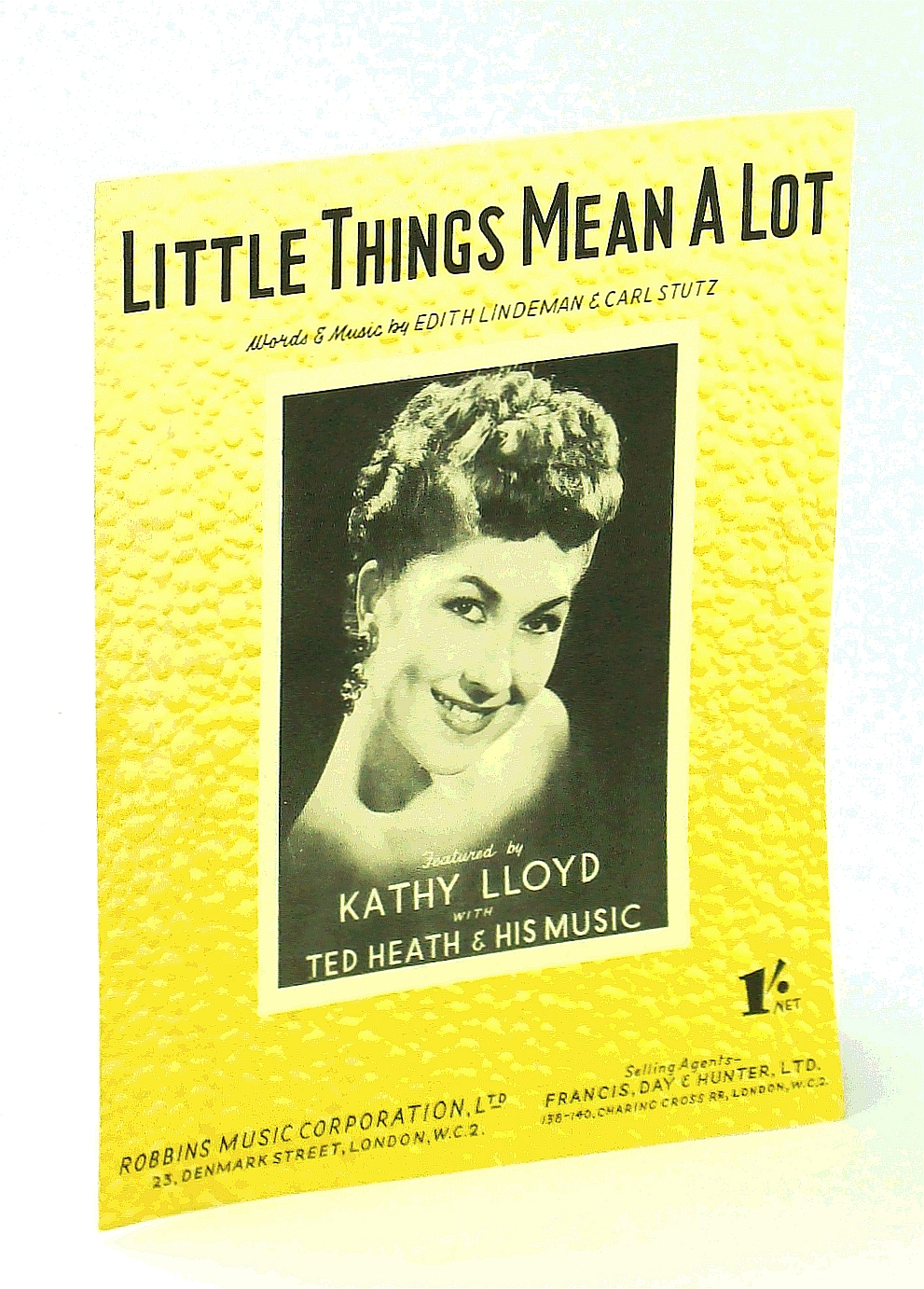 Image for Little Things Mean A Lot - Sheet Music for Voice and Piano with Ukulele Chords