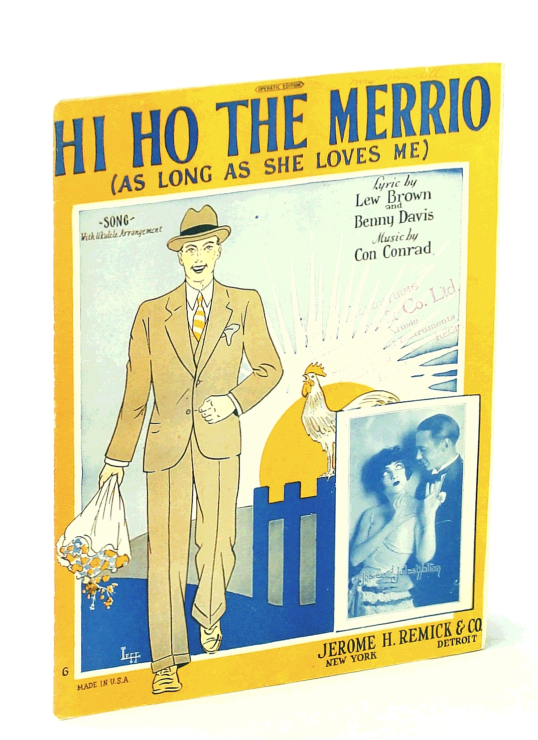 Image for Hi Ho The Merrio (As Long As She Loves Me) - Sheet Music For Piano and Voice With Ukulele Chords