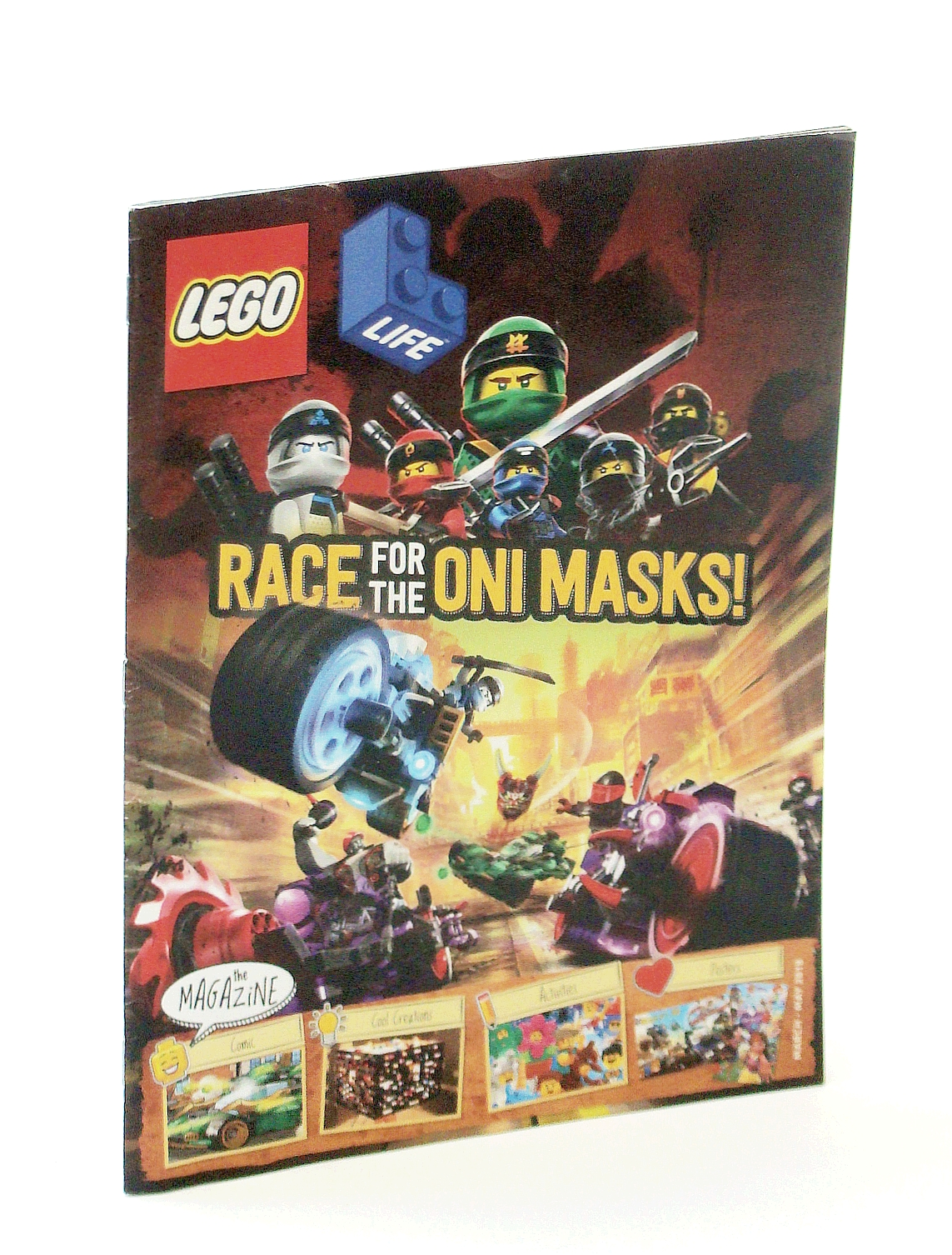 Image for Lego Life Magazine, March - May 2018: Race for the Oni Masks!
