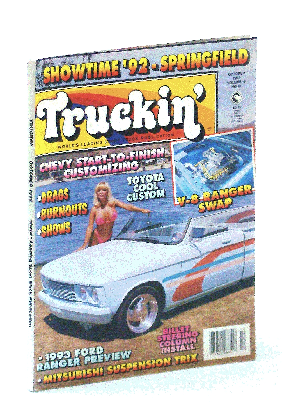 Image for Truckin' Magazine, October [Oct.] 1992: Cover Photo of Cassandra Preston and Jason Stephens' '77 Chevy LUV
