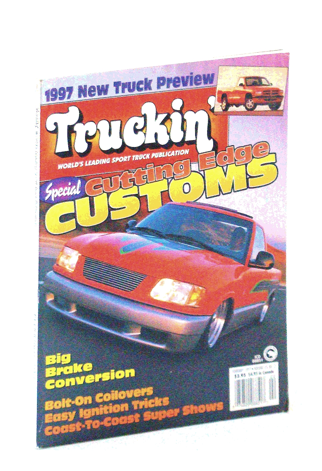 Image for Truckin' Magazine, February [Feb.] 1997: Cover Photo of Full-Custom '96 Isuzu Hombre Owned By Brian Jendro