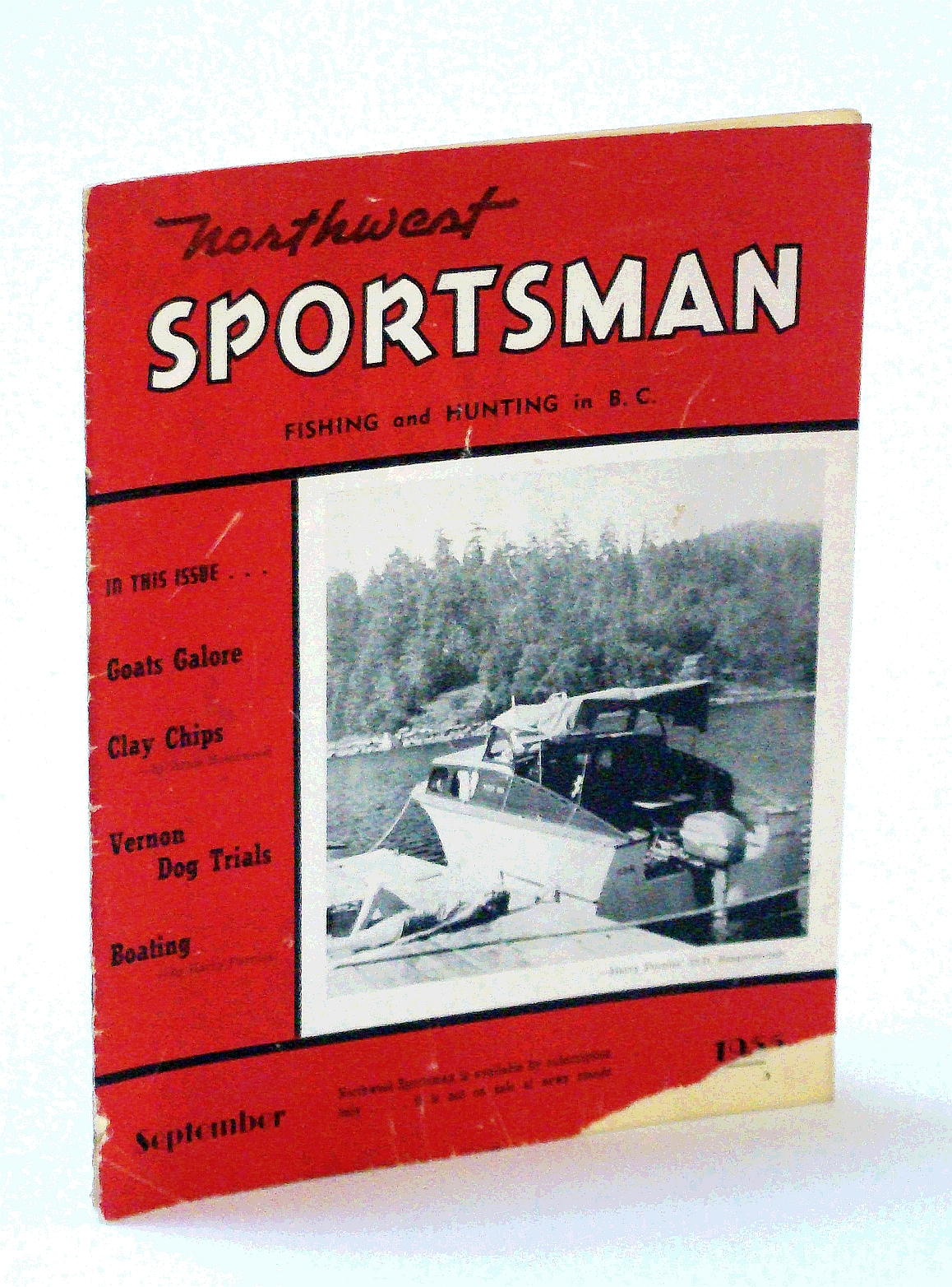 Image for Northwest Sportsman Magazine - Fishing and Hunting in B.C., September [Sept.] 1955 - Goats Galore!
