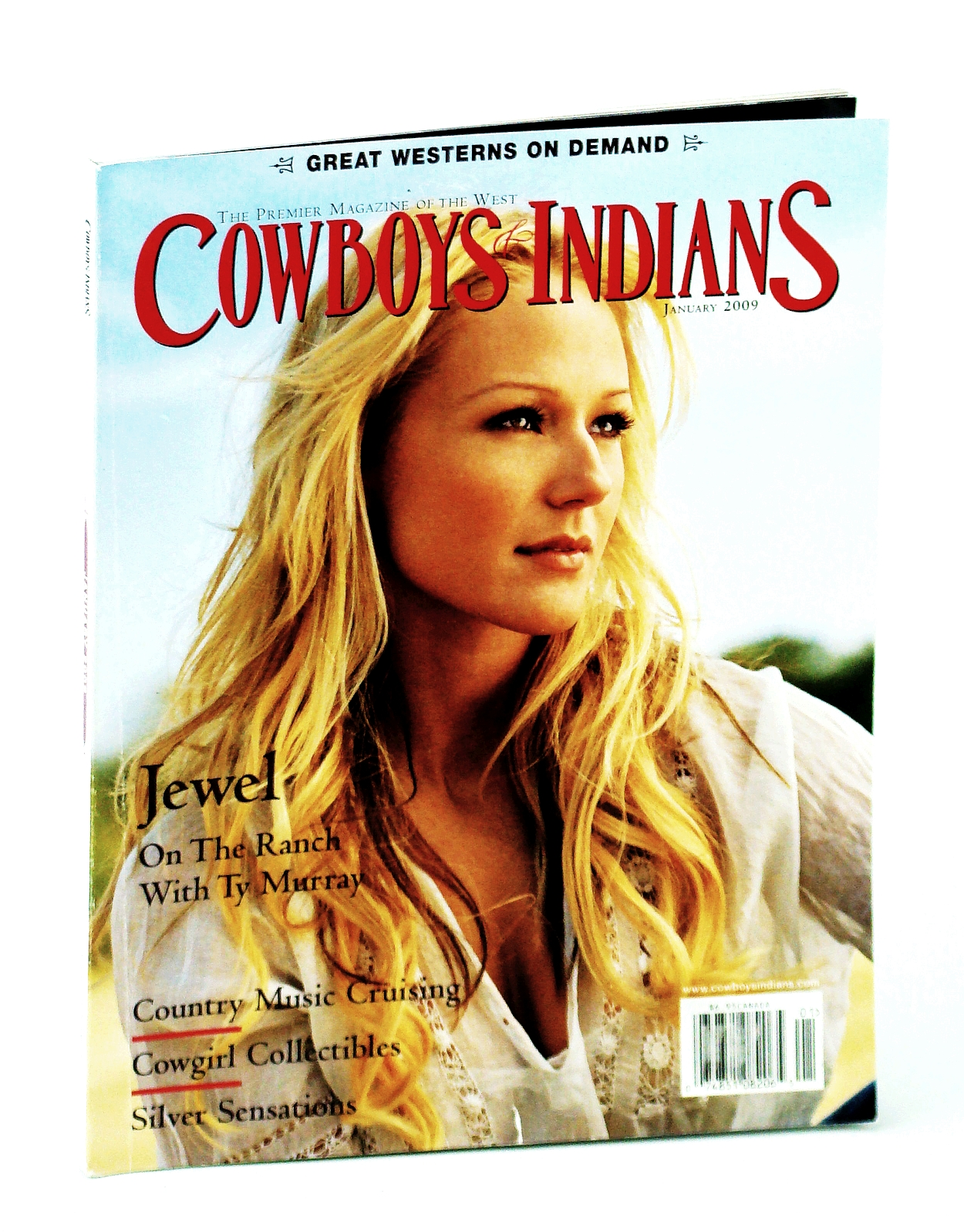 Image for Cowboys and Indians January 2009 (-JEWEL- ON THE RANCH WITH TY MURRAY)