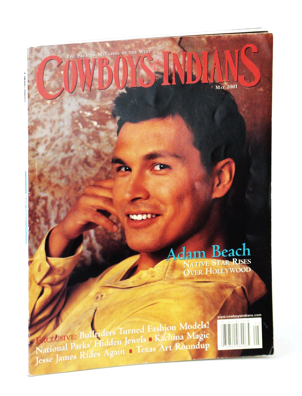 Image for Cowboys and Indians - The Premier Magazine of the West, May 2001 - Adam Beach Cover Photo