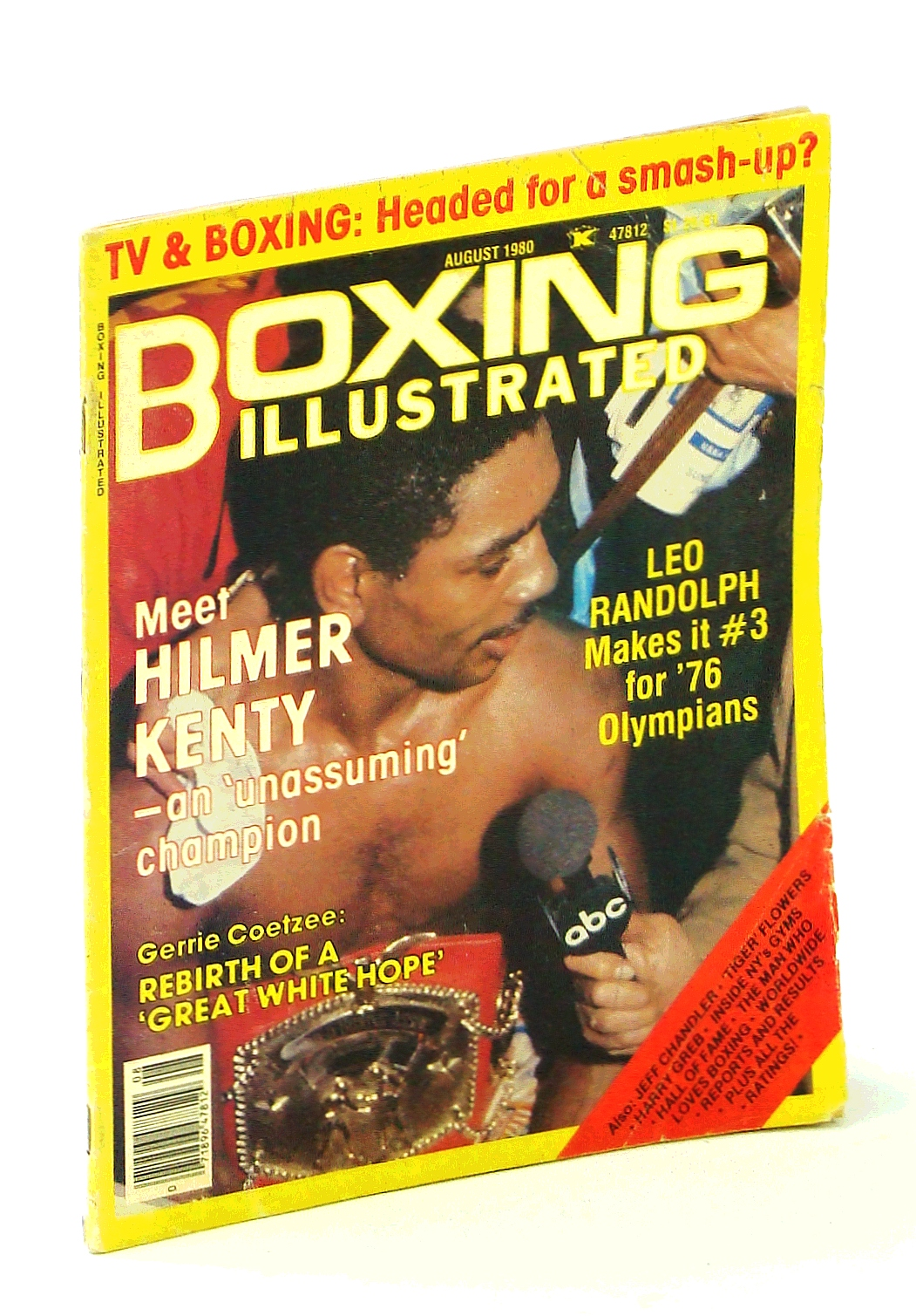 Image for Boxing Illustrated [Magazine], August 1980 - Hilmer Kenty Cover Photo
