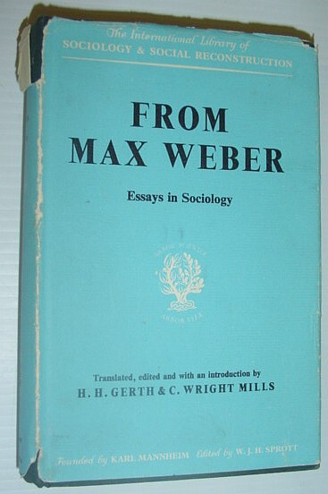 Image for From Max Weber: Essays in Sociology (International Library of Society)