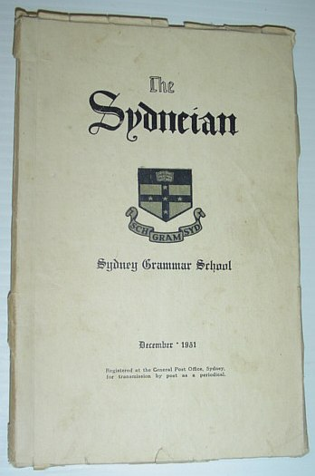 Image for The Sydneian, December 1951 - Sydney (Australia) Grammar School