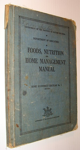 Image for Foods, Nutrition and Home Management Manual - Home Economics Circular No. 1