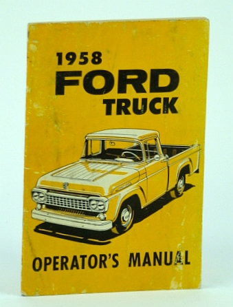 Image for 1958 Ford Truck Operator's Manual