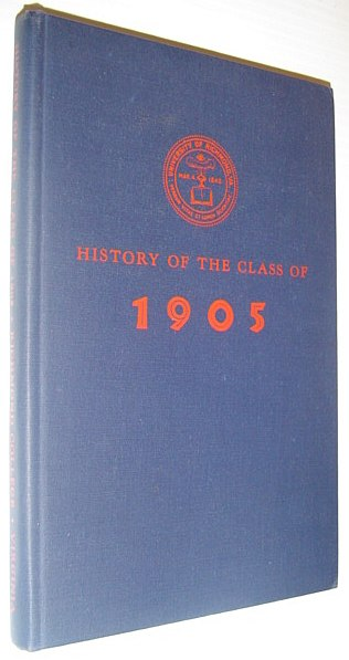 Image for History of the Class of 1905