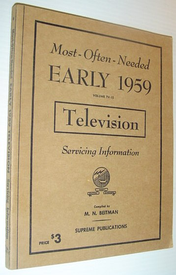 Image for Most-Often-Needed Early 1959 Television Servicing Information: Volume TV-15