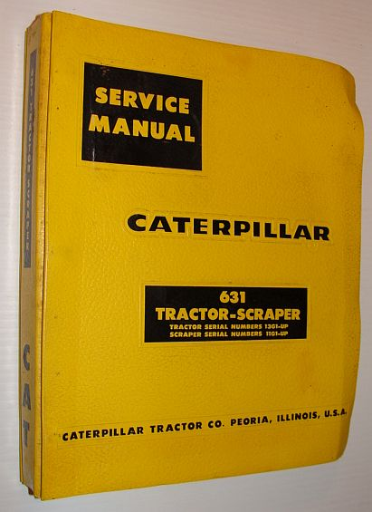Image for Caterpillar 631 Tractor-Scraper Service Manual