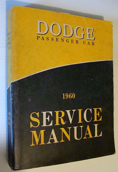 Image for 1960 Dodge Passenger Car Service Manual: 81-270-0021