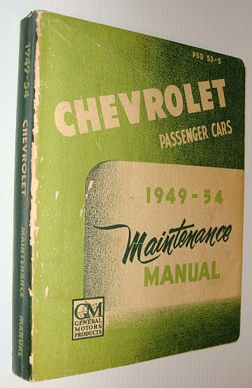Image for Chevrolet Passenger Cars 1949-1954 Maintenance Manual - PSD 53-5