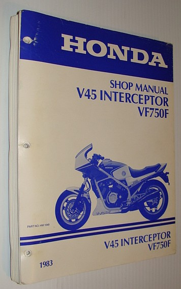 Image for Honda V45 / VF750F Interceptor Shop Manual, 1983