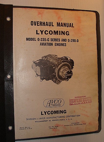 Image for Lycoming Overhaul Manual: Model O-235-C Series and 0-290-D Aviation Engines