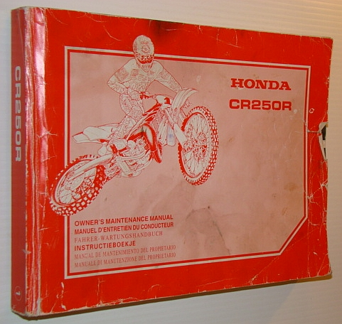 Image for Honda CR250R Owner's Maintenance Manual - Text in English, French, German, Dutch, Spanish and Italian