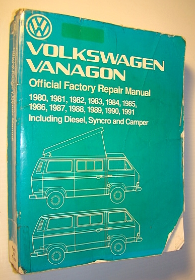 Image for Volkswagen Vanagon Official Factory Repair Manual 1980-1991 Including Diesel Syncro and Camper