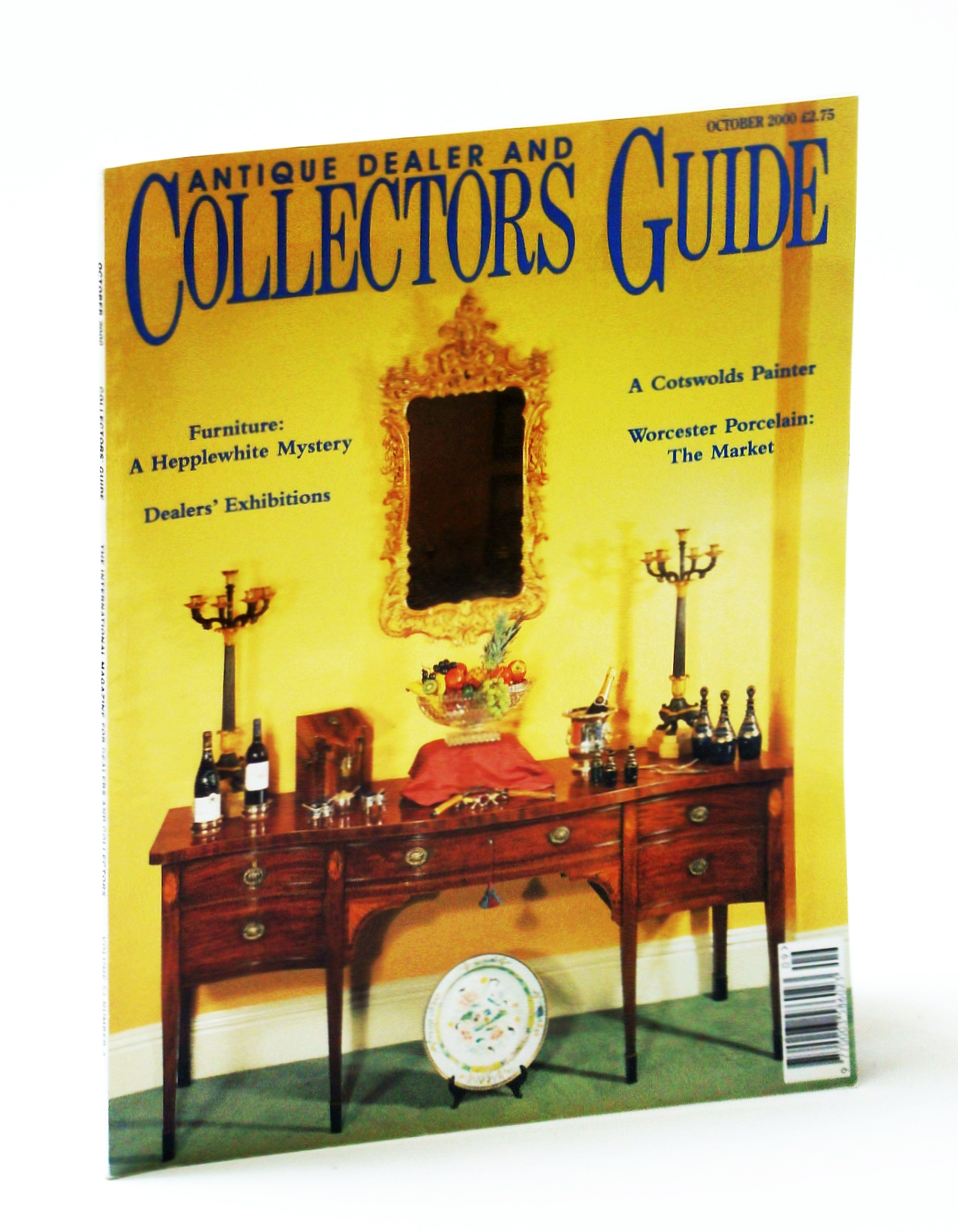Image for Antique Dealer and Collectors Guide Magazine, October (Oct.) 2000 - Collecting Orrefors / Who Was Hepplewhite? / George Barret Junior