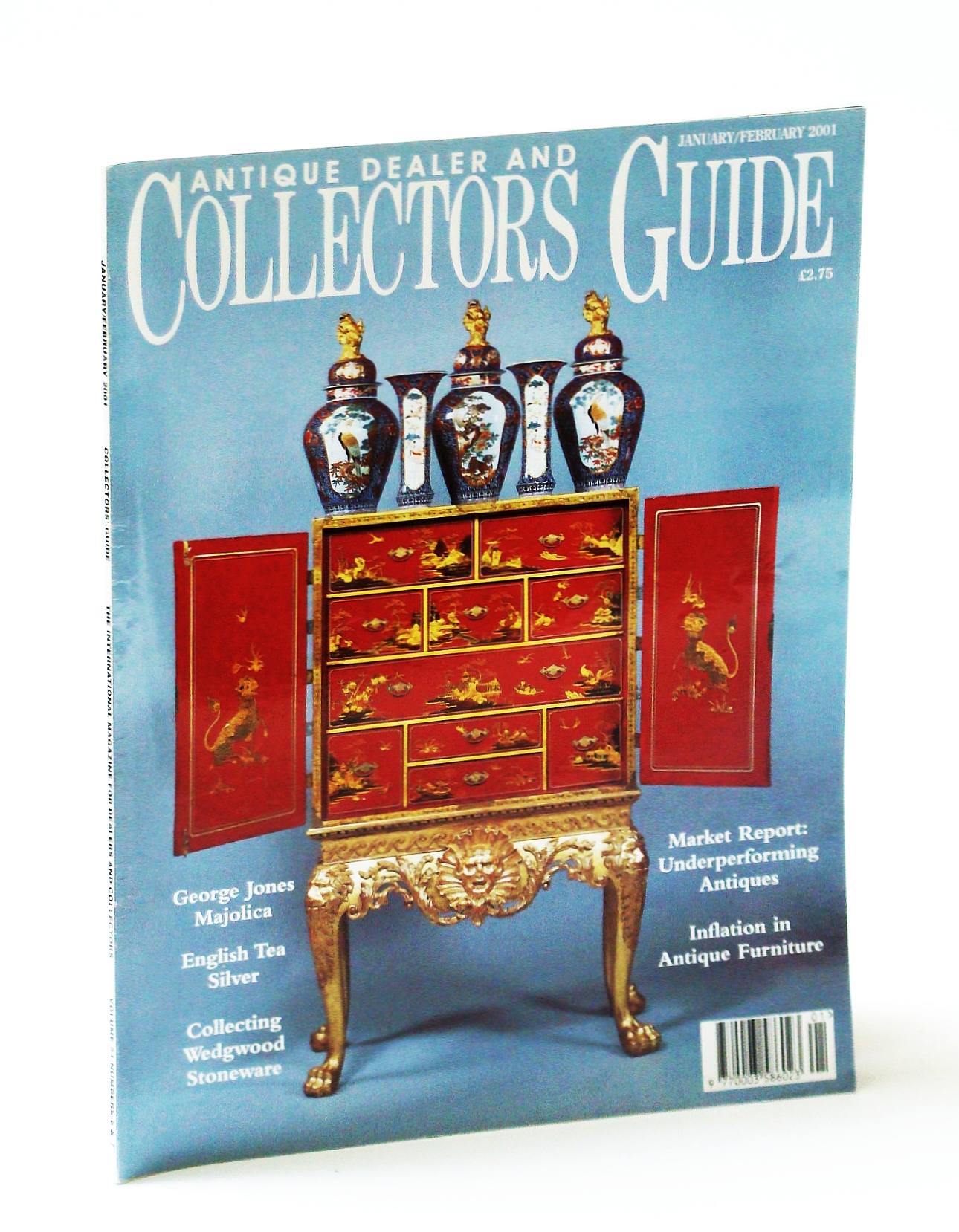 Image for Antique Dealer and Collectors Guide Magazine, January / February (Jan. / Feb.) 2001 - The Majolica of George Jones