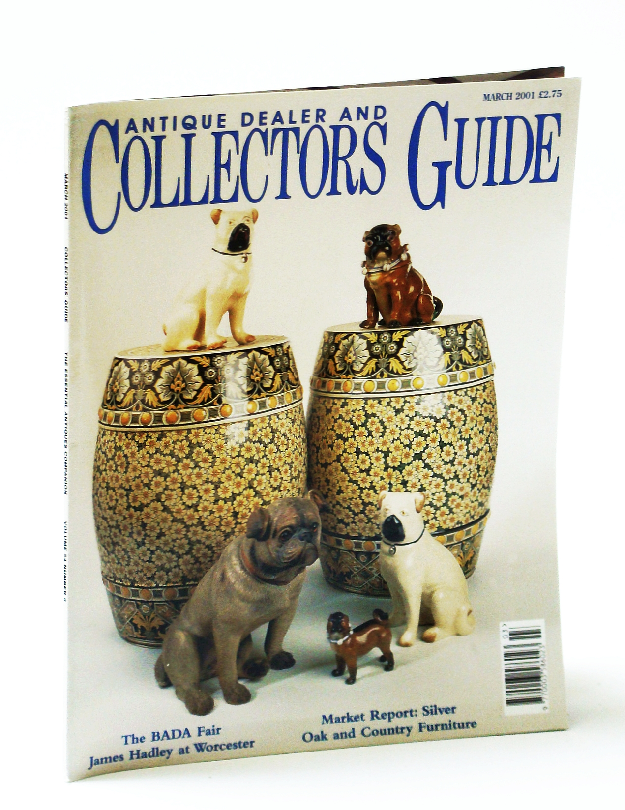 Image for Antique Dealer and Collectors Guide Magazine, March (Mar.) 2001 - Geoffrey Whitaker / James Hadley
