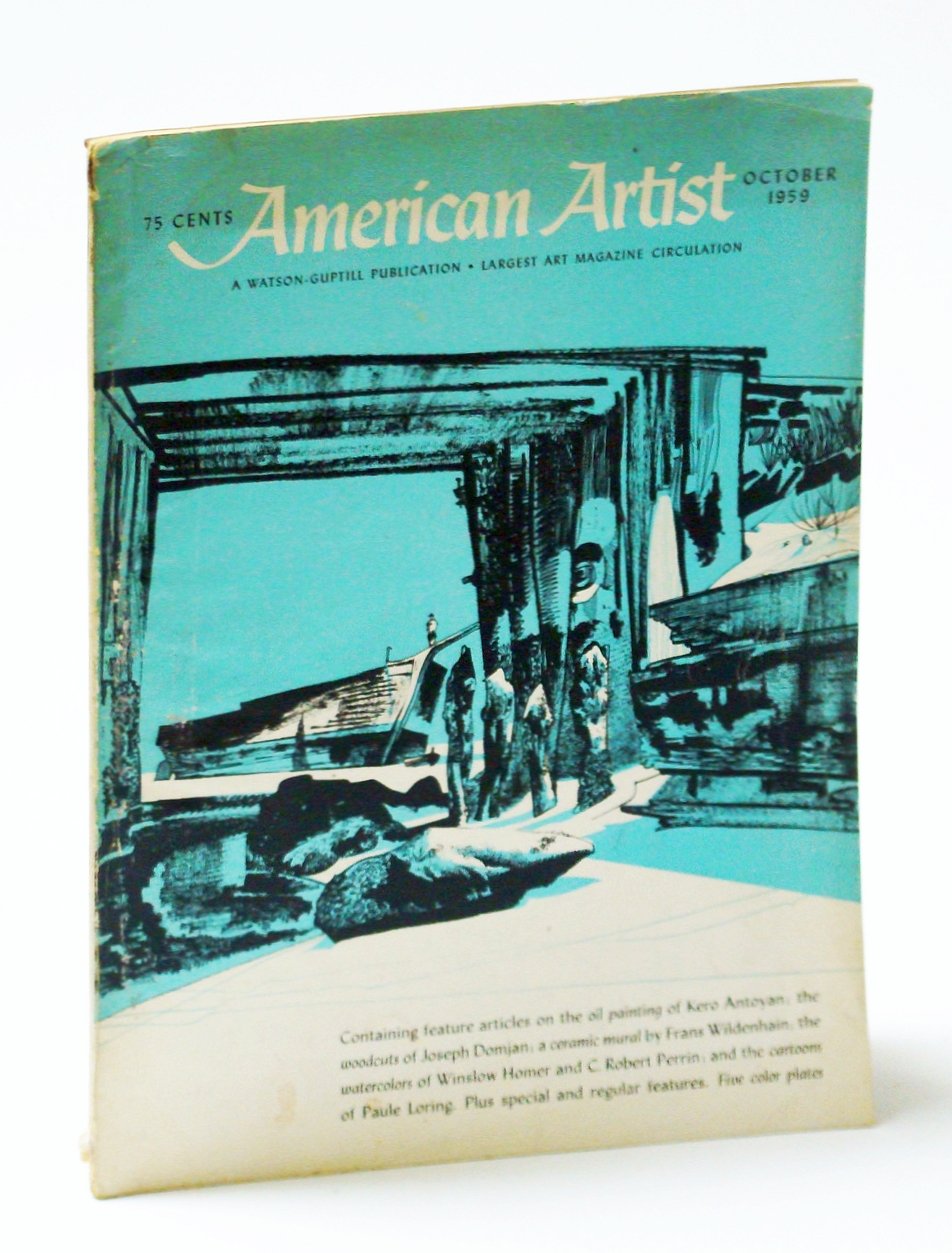 Image for American Artist Magazine, October (Oct.) 1959 - Paule Loring / Winslow Homer
