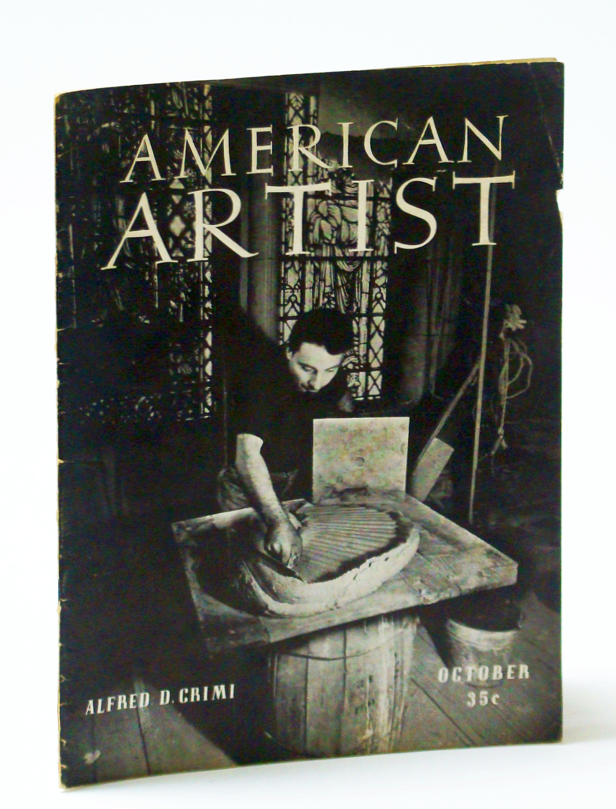 Image for American Artist Magazine, October (Oct.) 1941 - Alfred D. Crimi Cover Photo