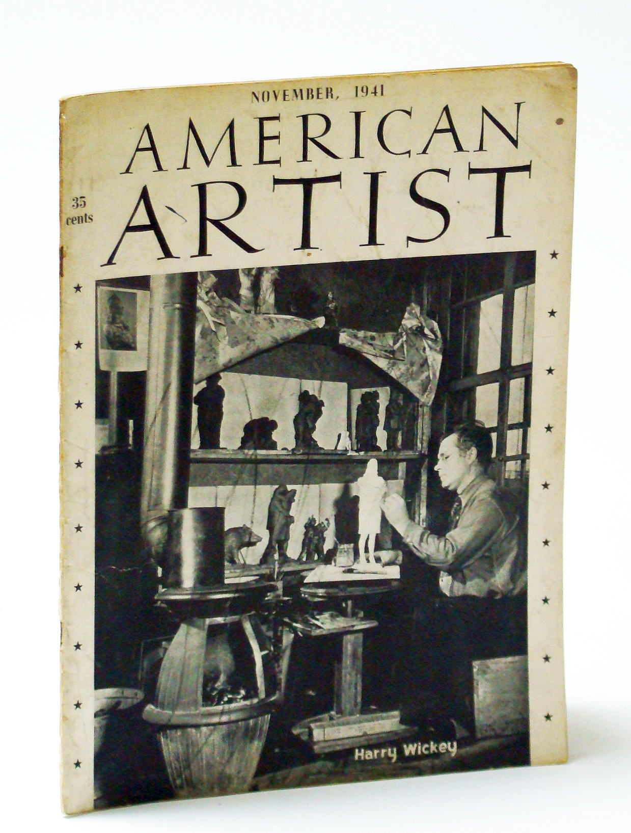 Image for American Artist Magazine, November (Nov.) 1941 - Harry Wickey Cover Photo