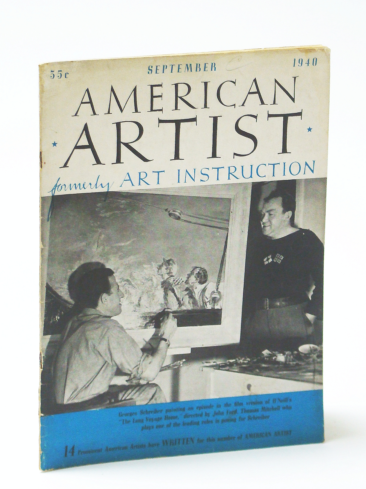 Image for American Artist Magazine, September (Sept.) 1940 - Georges Schreiber Cover Photo