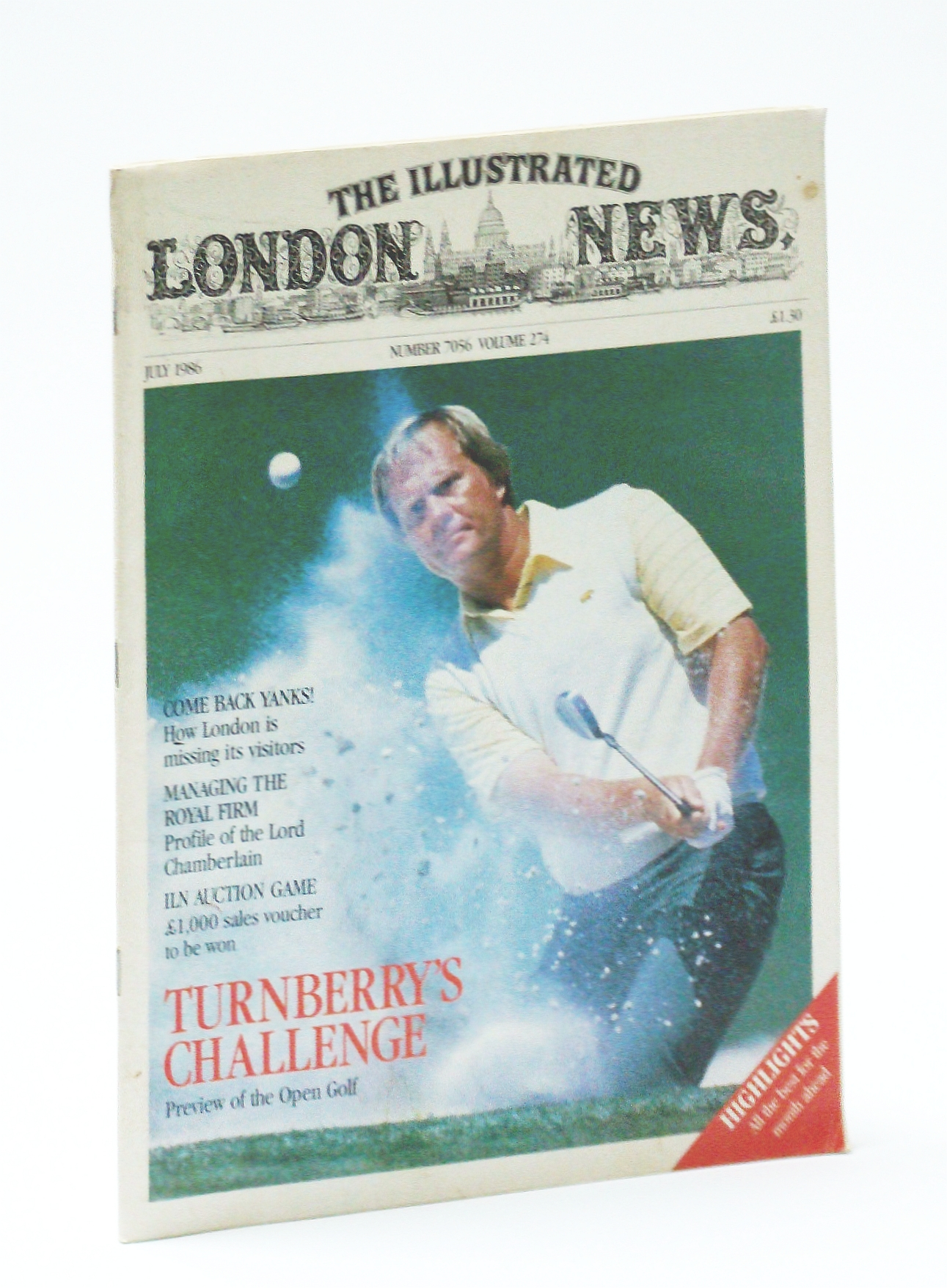 Image for The Illustrated London News [Magazine], July 1986 - Jack Nicklaus Cover Photo