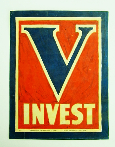 Image for V Invest - WWII Victory / War Bond Window Sticker