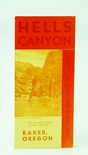 Image for Hells Canyon - Narrowest and Deepeste Gorge in North America, Baker, Oregon: Promotional Brochure