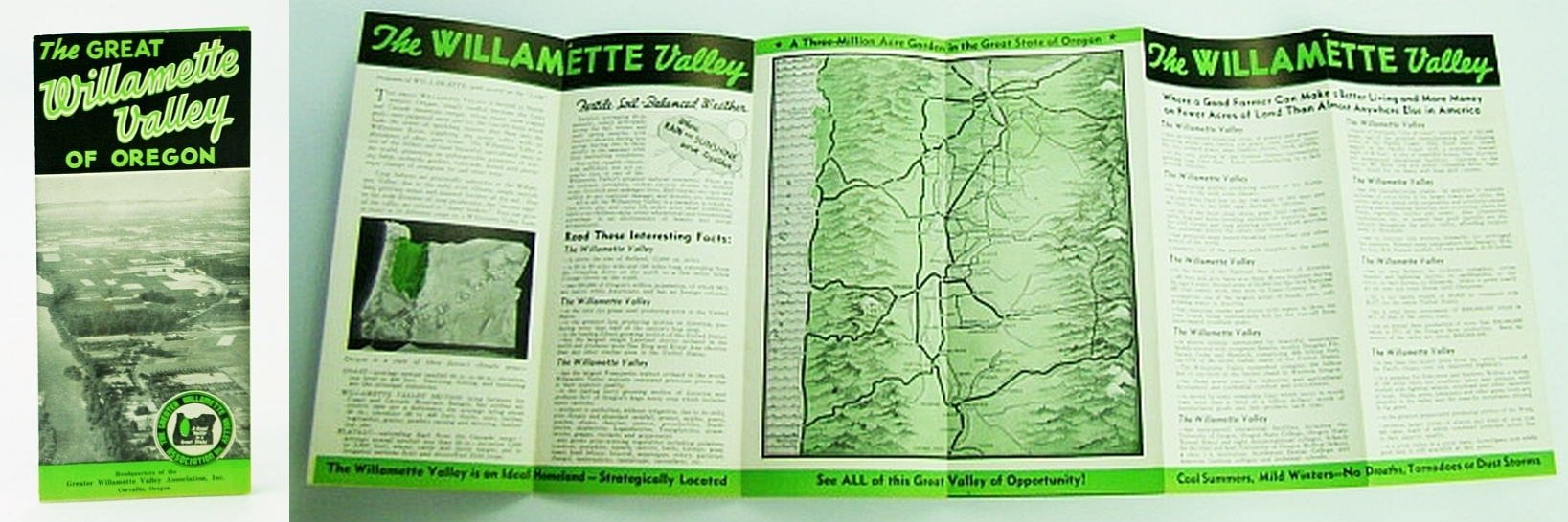 Image for The Great Willamette Valley of Oregon - Vintage Promotional Brochure