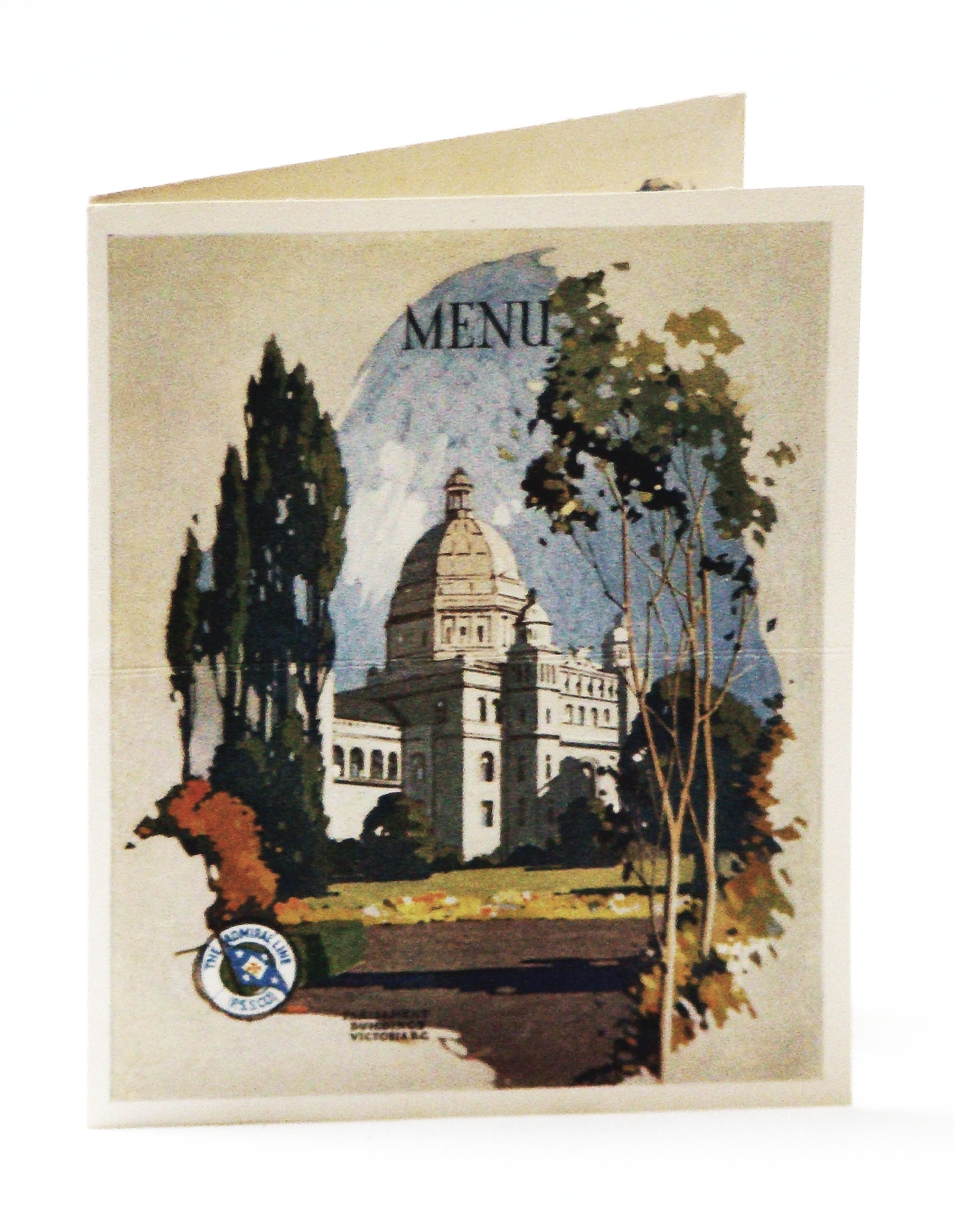 Image for Color Dinner Menu/Postcard From the S.S. Admiral Dewey, Operated by the Pacific Steamship Company / The Admiral Line