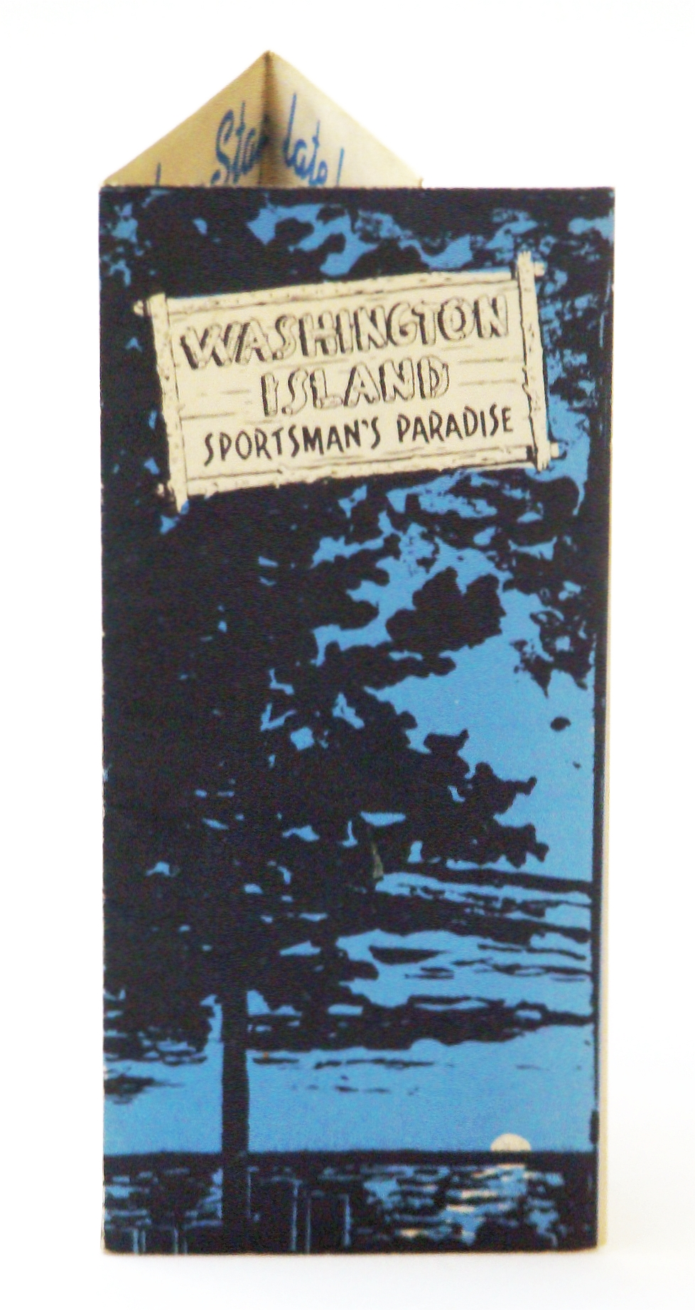 Image for Promotional Six-Panel Brochure / Map of Washington Island, Wisconsin - Sportsman's Paradise