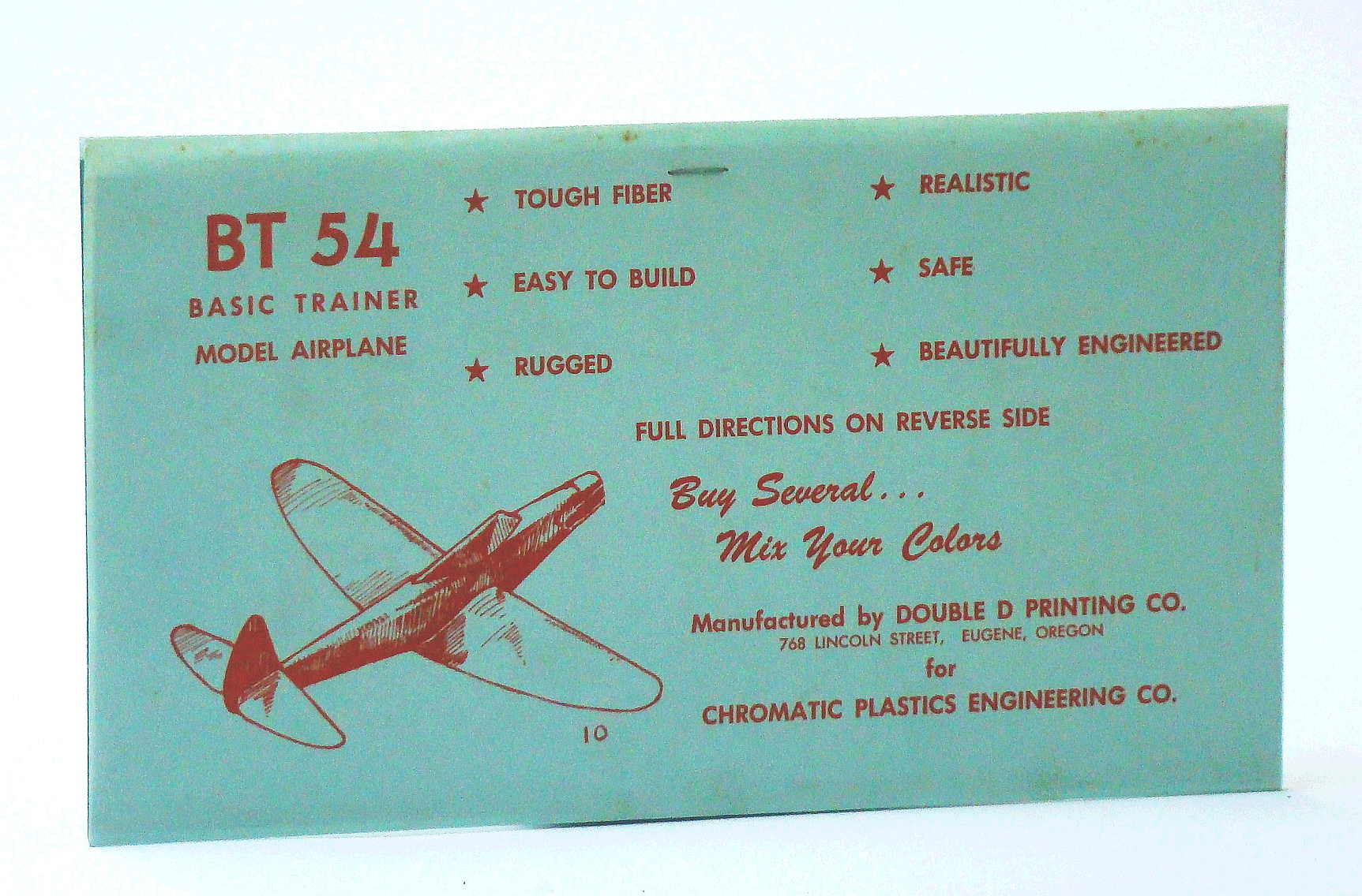Image for BT 54 Basic Trainer Model Airplane