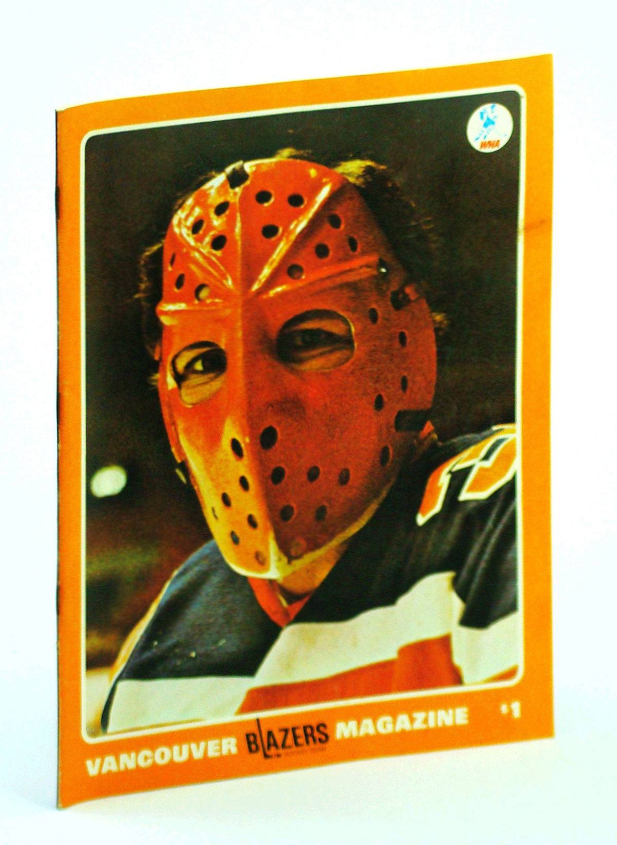 Image for Vancouver Blazers Magazine, Volume II, Issue No. 20, January 2, 1975 : Cover Photo of Phoenix Goalie Jack Norris Wearing Mask