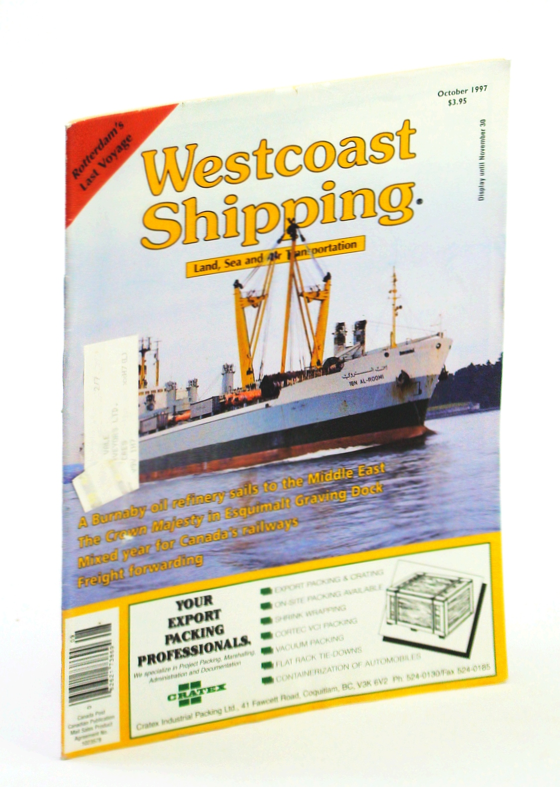 Image for Westcoast Shipping [Magazine] - Your Connection to Land, Sea, Air in the Pacific Rim, October 1997