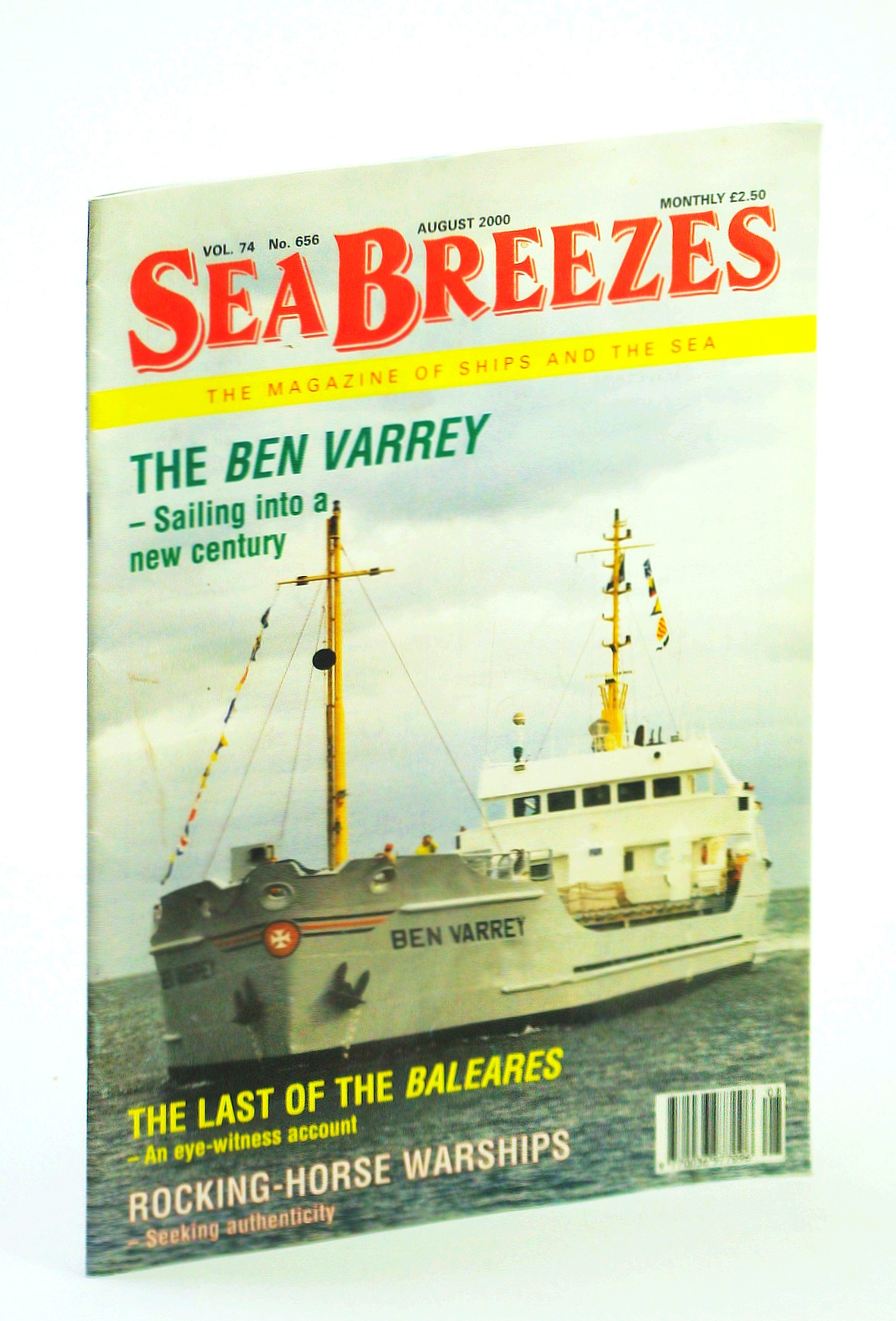 Image for Sea Breezes - The Magazine of Ships and the Sea, August 2000, Vol. 74, No. 656 - Ben Varrey Cover Photo