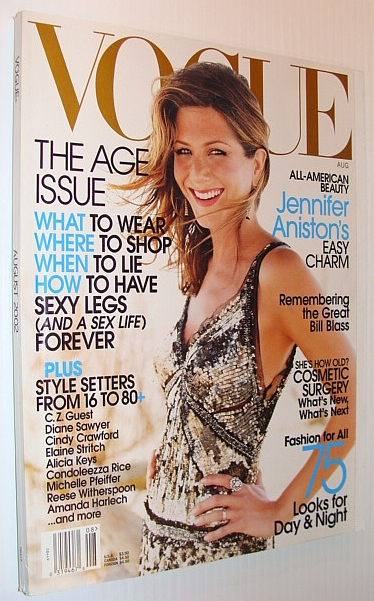 Image for Vogue (USA) Magazine, August 2002 - Jennifer Aniston Cover